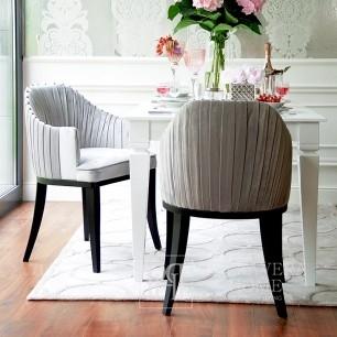 Polsterstuhl, plissiert im Glamour-CHIC-Stil