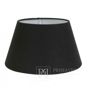 Round lampshade in graphite glamour style