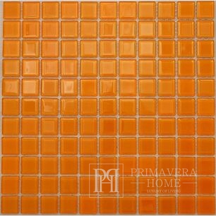 Glass mosaic Orange Penelope high gloss