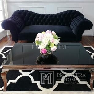 Stylowa sofa pikowana w stylu ludwikowskim tapicerowana glamour ROMA