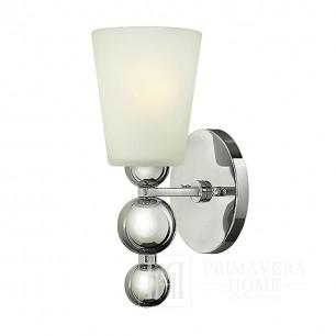 Kinkiet lampa ścienna srebrna chrom nikiel ZEPFIR