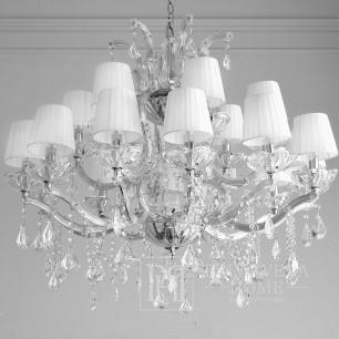 Żyrandol srebrny lampa wisząca z kryształkami glamour, styl hamptons nowojorski elegnacki MARIA TERESA M