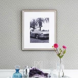 GRAPHIC RESOURCE New Yorker Stil Geometrische Tapete Amerikanischer Stil GRÜN Braun GELB Braun