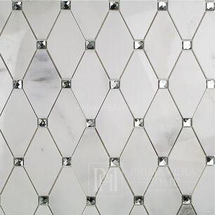 White marble Carrara acetagon Stone mosaic hexa Diamond