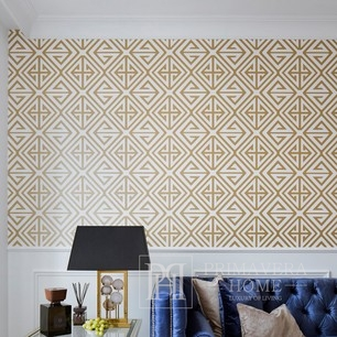 BRIDGE HAMPTON Geometric wallpaper in New York style American English GOLDEN