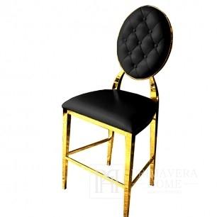 Modern black New York glamor stool MEDALLION