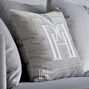 Cushion 50x50 with logo in Emerald grey fabric