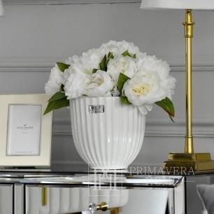 Ceramic pot Rosalie Flower Lene Bjerre white
