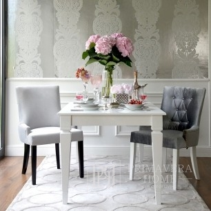 Glamour wooden table white folding to the dining room Diamond