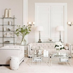 Nowojorska sofa glamour pikowana tapicerowana do salonu PAOLA