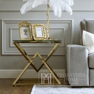 Glamour Tisch New York Beistelltisch Edelstahl Gold CONRAD MINI