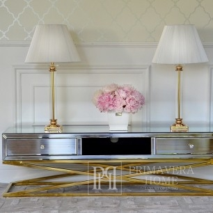 New York City's CHICAGO RTV gold-plated glamour cabinet on metal legs