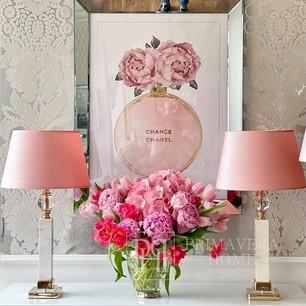 Bild im Spiegelrahmen modern stilvoll für Wohnzimmer CHANEL