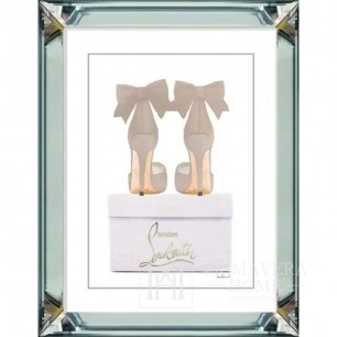 Luxurious New York painting in a mirrored frame - stylish SHOE STYLES
