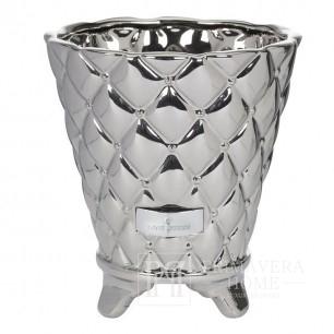 Donica ceramiczna srebrna Precious Flower Lene Bjerre 16cm
