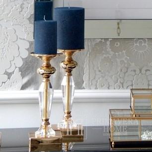 Kristall-Kerzenleuchter auf S-Sockel FLAVIO Gold