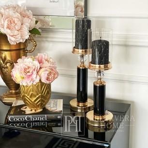Glamour Kerzenhalter mit einem Farbton Gold Schwarz Modern [CLONE]