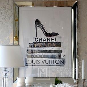 Nowoczesny obraz w ramie lustrzanej 90x70 CHANNEL PRADA TIFFANY DIOR VOGUE LOUIS VUITTON