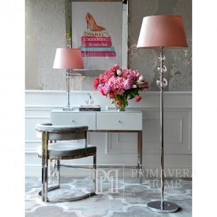 Lampa podłogowa glamour stylowa nowoczesna z kulami podstawa srebrna TRIO