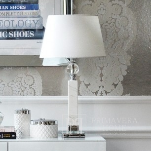 Glamor style table lamp with silver ball marble MARMO
