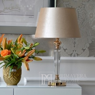 Crystal lamp S white TRINITY gold