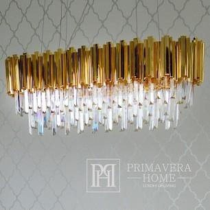 New Yorker Glamour-Kristall-Kronleuchter EMPIRE GOLD L OUTLET