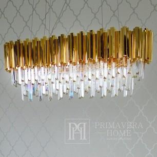 New Yorker Glamour-Kristall-Kronleuchter EMPIRE GOLD L