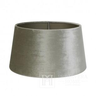 Glossy lampshade round glamor velor gray