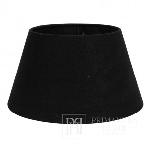 Black, large, round drum lampshade in a glamor style 45 cm
