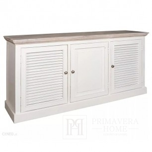 Chest of drawers with 3 doors, Provencal style, hampton Bristol, white
