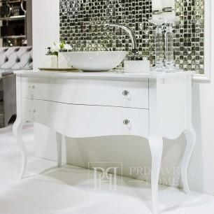 Bathroom dresser wooden high gloss glamour style glamour black white ELIZABETH