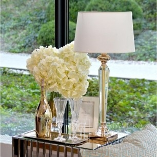 Table lamp TRINITY L Crystal 53cm, gold white