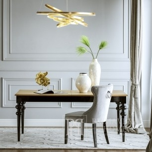 Wooden glamour table for dining room Milano