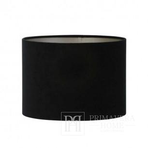 Round velor lampshade - black, gray-brown Zenon