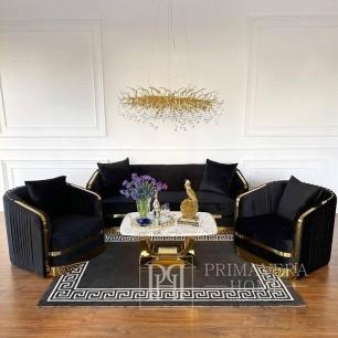 Elegantes und modernes Glamour-Sofa MADONNA schwarz-Gold