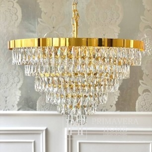 Chandelier crystal New York glamor modern to the living room gold MONACO L
