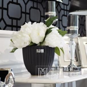 LENE BJERRE Ceramic pot 18x16cm black