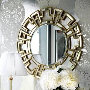 Dekorativer Spiegel im New Yorker Stil Glamour Gold ELISE