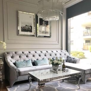 Glamour upholstered sofa, corner sofa with bedroom function PRADA