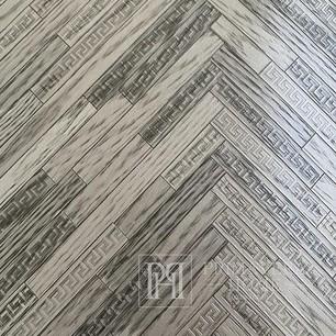 Exklusive Versace Eterno hellbraune geometrische Tapete
