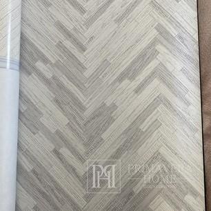 """Versace Tapete geometrisch 10,05 x 0,70 m """"Fischgrät"""" silber"""