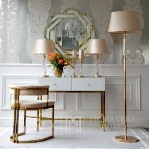 Lampa podłogowa glamour kryształowa stylowa nowoczesna podstawa złota TRINITY