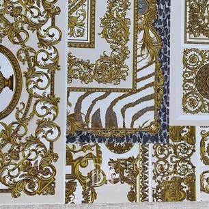 Luxuriöse geometrische tapete Versace Glamour quadrate goldene dekorative collage
