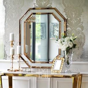 Spiegel geometrisch RARE GOLD WHITE Glamour 100x80 gold, weiß