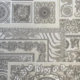Versace Tapete geometrisch 10,05 x 0,70m Ecru Quadrate