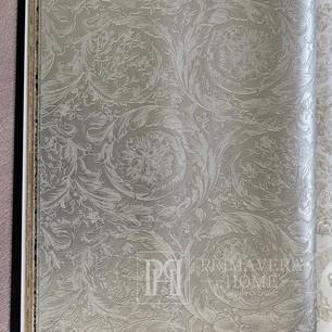 Tapete geometrische Versace IV Barocco Metallics ornament beige