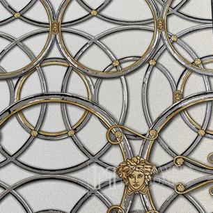 Tapete glamour Versace IV geometrische Art Deco Home beige und gold