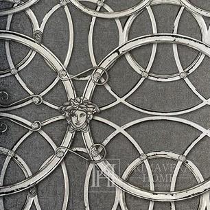 Glamour tapete Versace IV geometrisch hellbraun silber mit Ringen