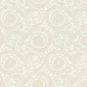 Tapete VERSACE IV Heritage ornament ecru auf weißem hintergrund