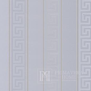 Versace Greek Key Tapete Geometrisches weißes griechisches Muster